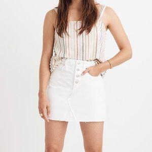 Madewell Regis Denim A-Line Skirt